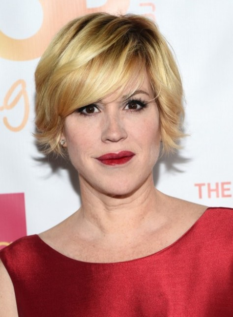 Molly Ringwald Short Layered Razor Hair Cut