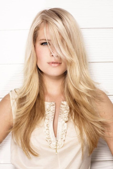 Blonde Haircuts For Long Hair Oval Face