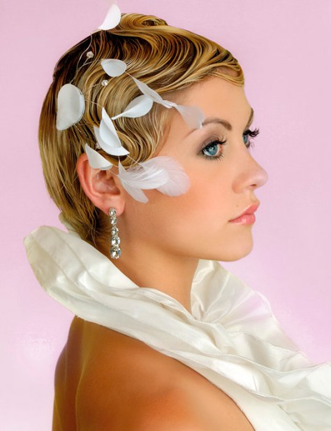 Hairstyle Short Hair Wedding Pics