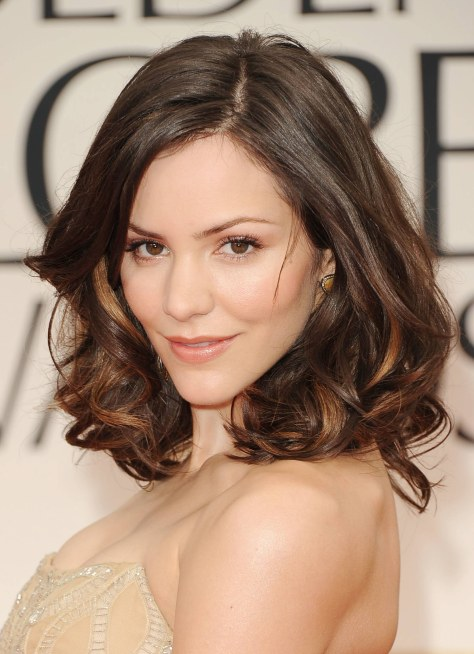 BEVERLY HILLS, CA - JANUARY 15: Actress-singer Katharine McPhee arrives at the 69th Annual Golden Globe Awards held at the Beverly Hilton Hotel on January 15, 2012 in Beverly Hills, California. (Photo by Jason Merritt/Getty Images)