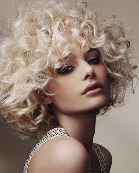 Medium Blonde Hairstyles for Curly Hair