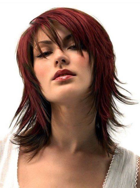 Medium Length Haircuts for Thick Hair, Red Hair Styles
