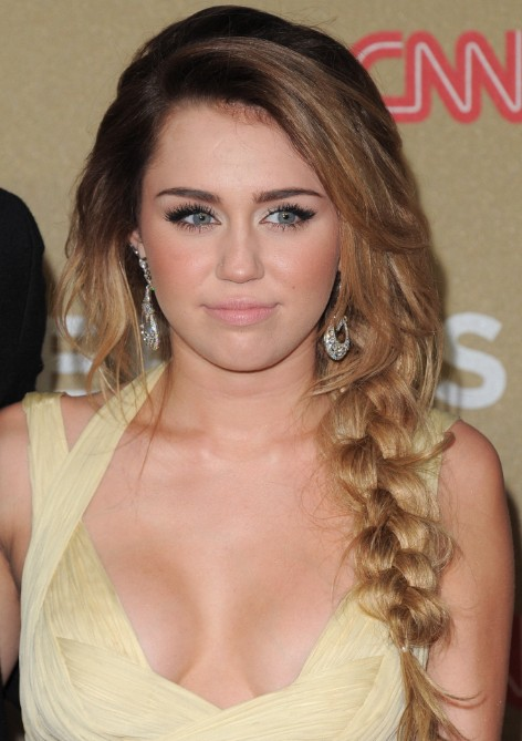 Miley Cyrus Braided Hairstyles