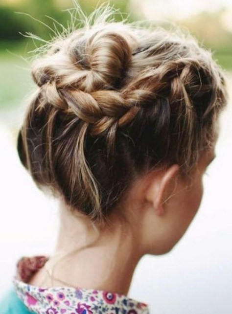 Short Hair Braids Updo Hairstyles