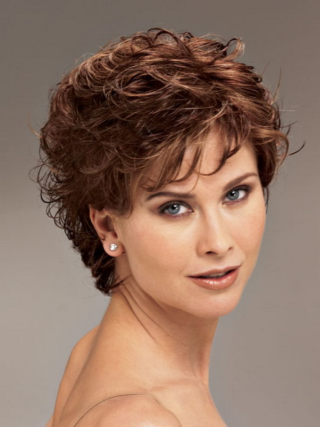 Short curly Haircuts for Fine Hair 2016