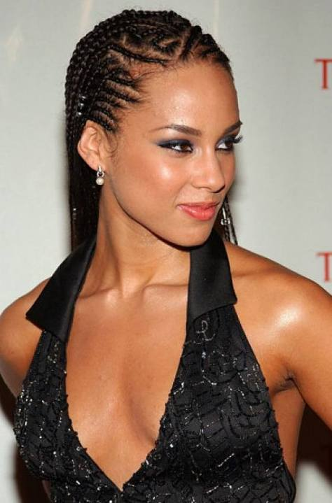 Super Hot Black Braided Hairstyles for Oval Faces