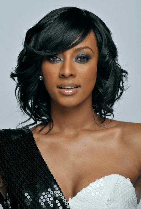 közepes bob frizurák fekete nők számára