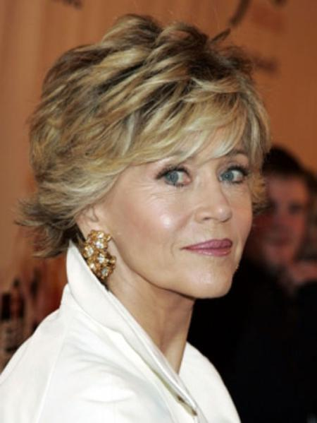short hairstyles for older women images..