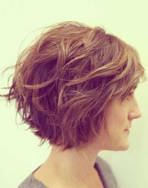 2016 Short Bob Hairstyles Wavy Hair