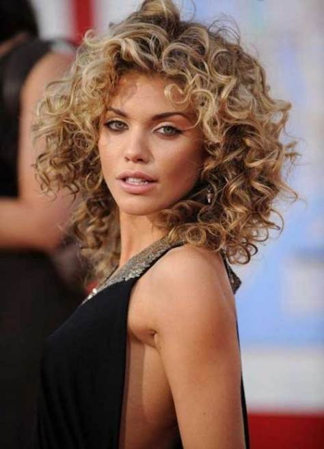 Amazing Layered Messy Hairstyle For Curly Hair