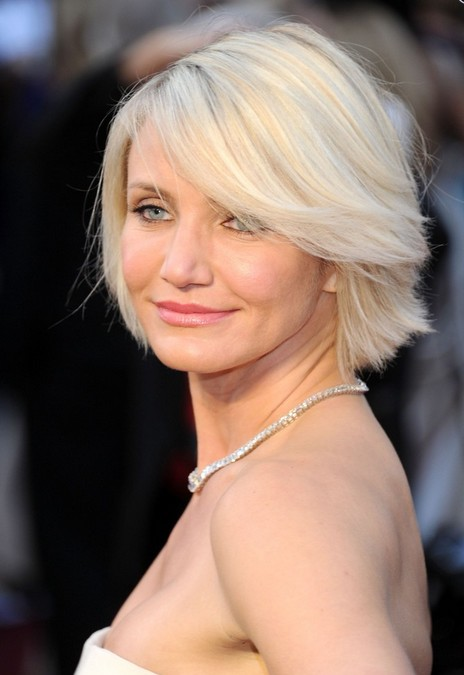 Cameron Diaz Short Blonde Bob Hairstyle