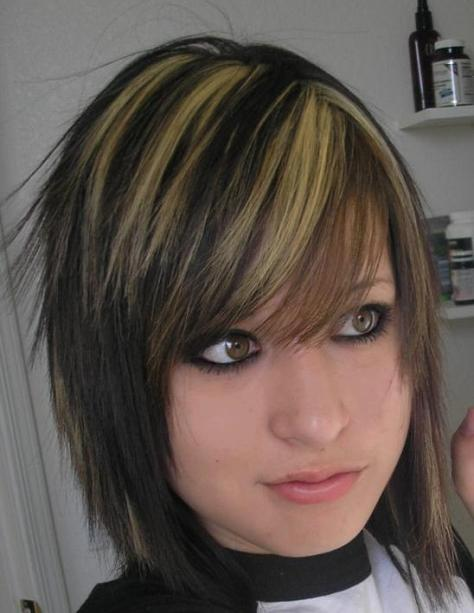 Emo Hairstyles for Girls with Medium Hairs