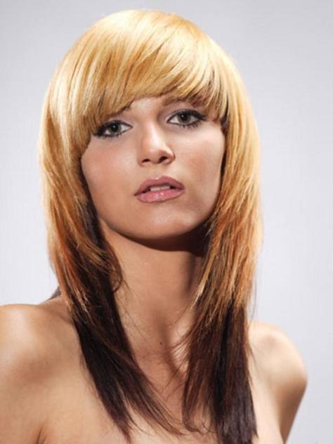 Hairstyle with Bangs for Long Hair
