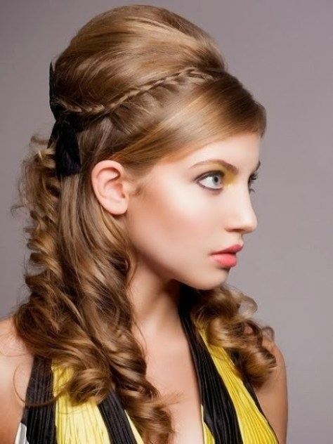 Latest Elegant Party Hair Style for Long Hairs