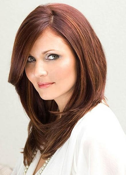 Long Haircuts for Thick Hair Round Face