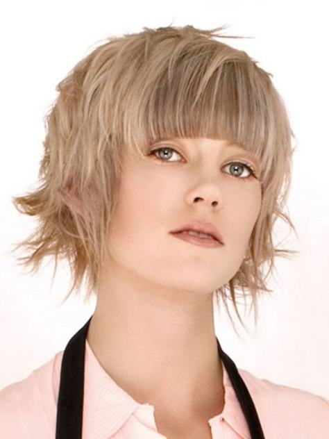 Short Hairstyles Round Faces Pictures