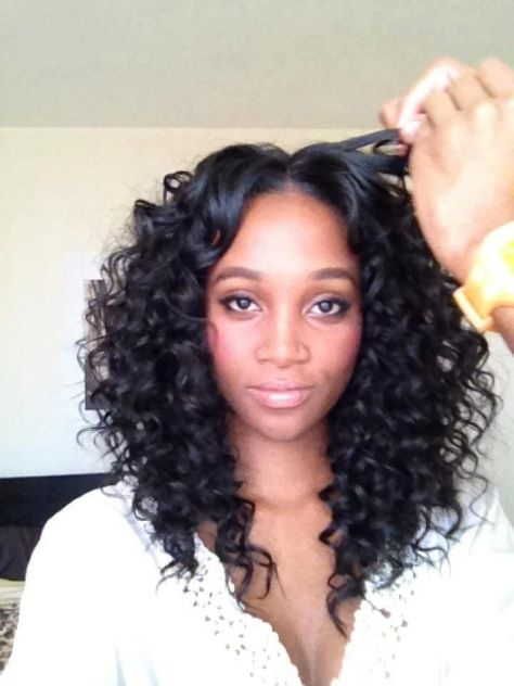 Kinky Hair Weave on Black Women