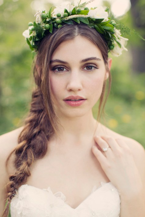 Wedding Hairstyles with Braids and Flowers
