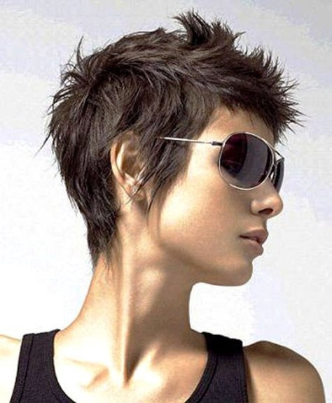 funky short haircuts for older women