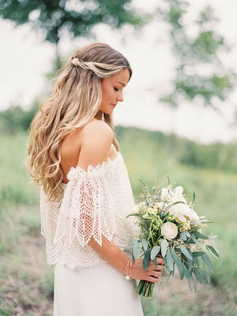 bohemian wedding hairstyles