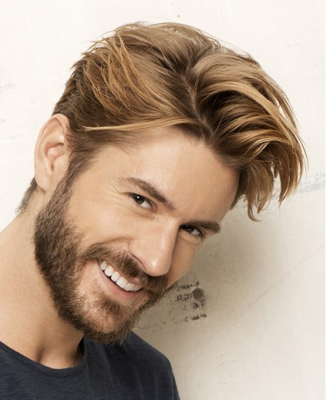 hairstyles for men blonde