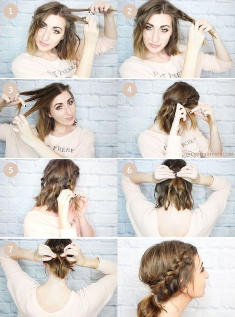 medium length hairstyles for school