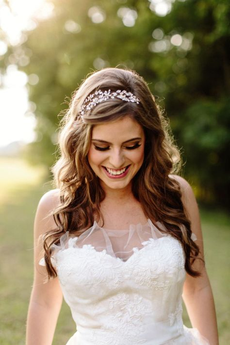 wedding hairstyles with tiara