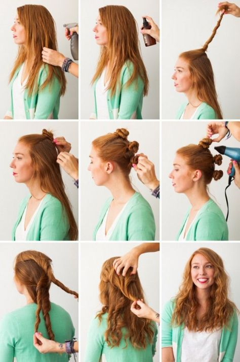 curly hairstyles tutorial