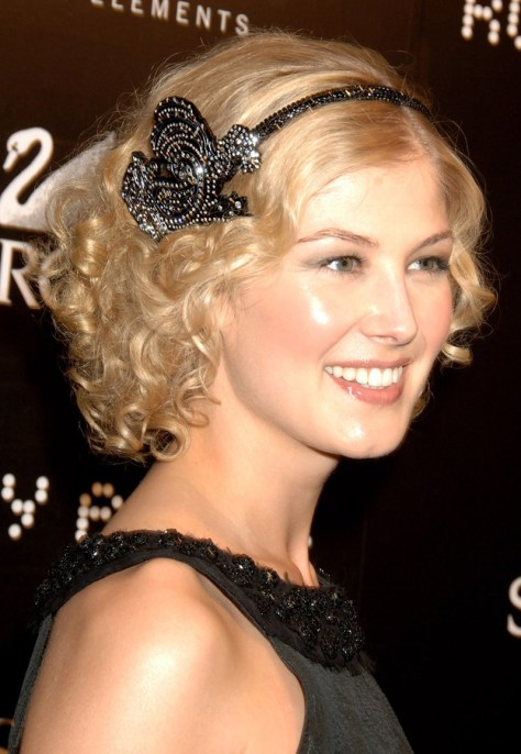 curly hairstyles with headbands