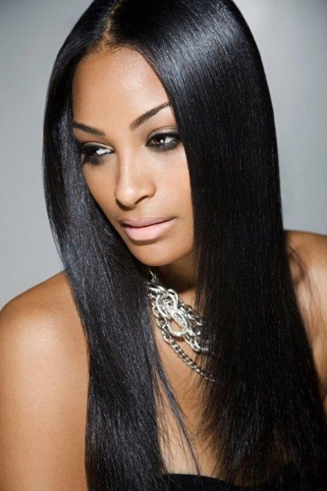 straight black hairstyles
