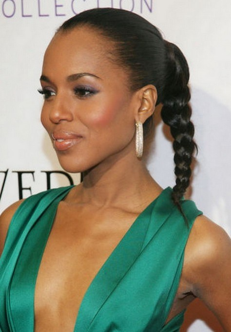 black hairstyles ponytail
