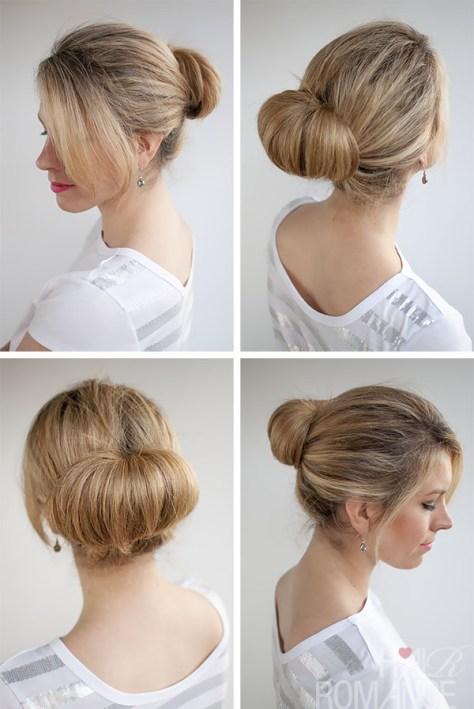 medium hairstyles bun