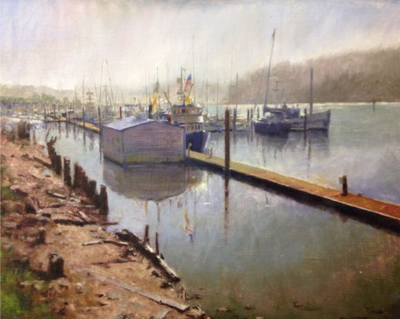Fishing Boats in Port of Siuslaw by David Terry