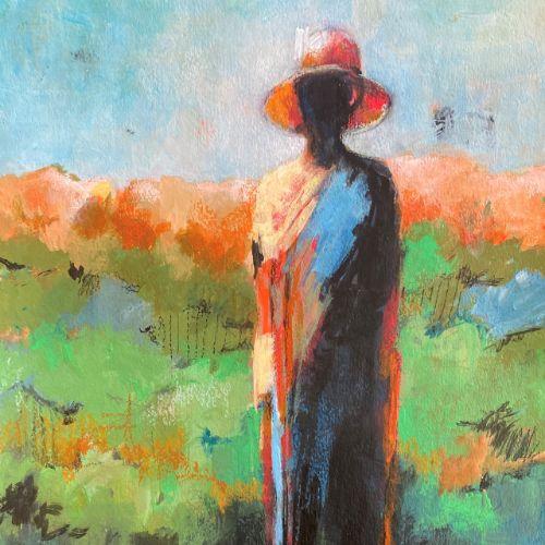 (Grid) Rachel at the River by Barbara Enochian
