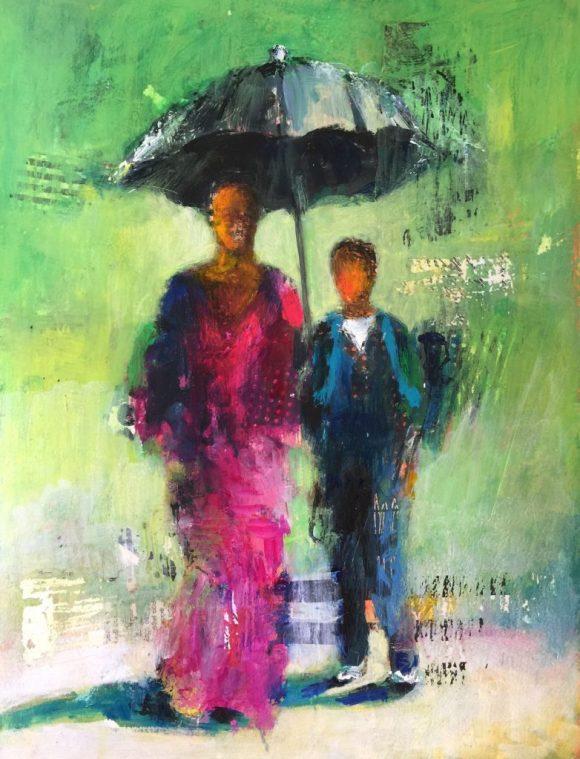 Walking to School by Barbara Enochian