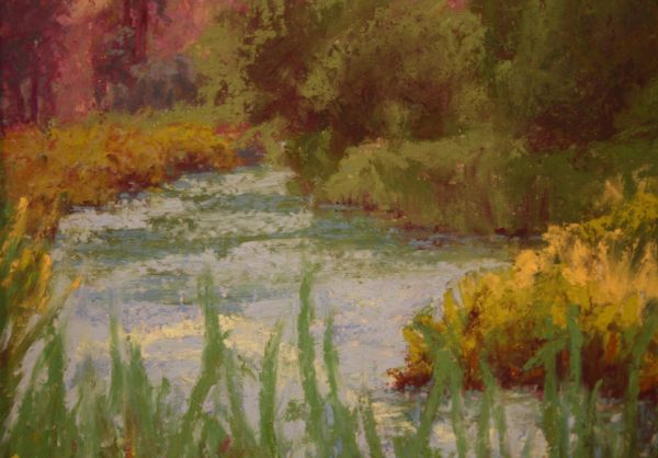 (Close-up) Fishing's Good, Middle Deschutes by Norma Holmes