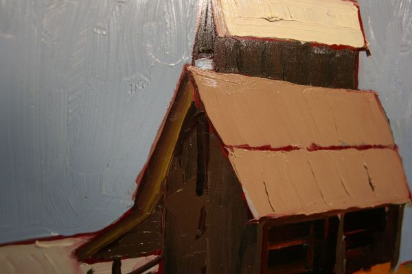 (Close-up) Little Barn on the Prairie by Ilene Gienger-Stanfield