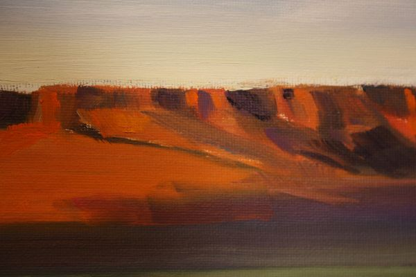 (Close-up) Red Bluff by Janice Druian