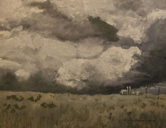 Clouds over the Prairie by Ron Raasch