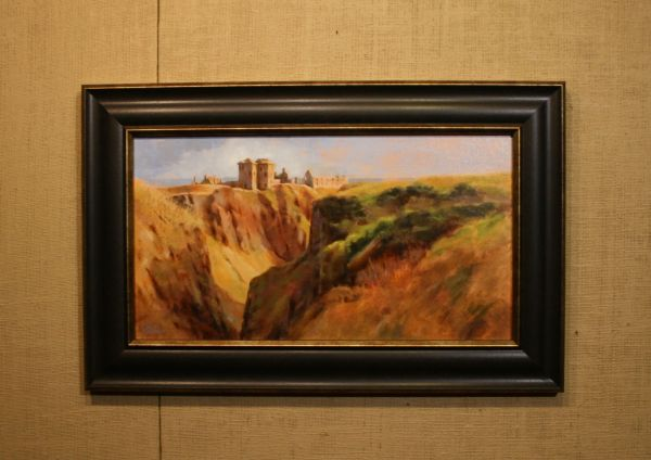 (Frame) Dunnator Castle on New Year's Day by Charity Hubbard