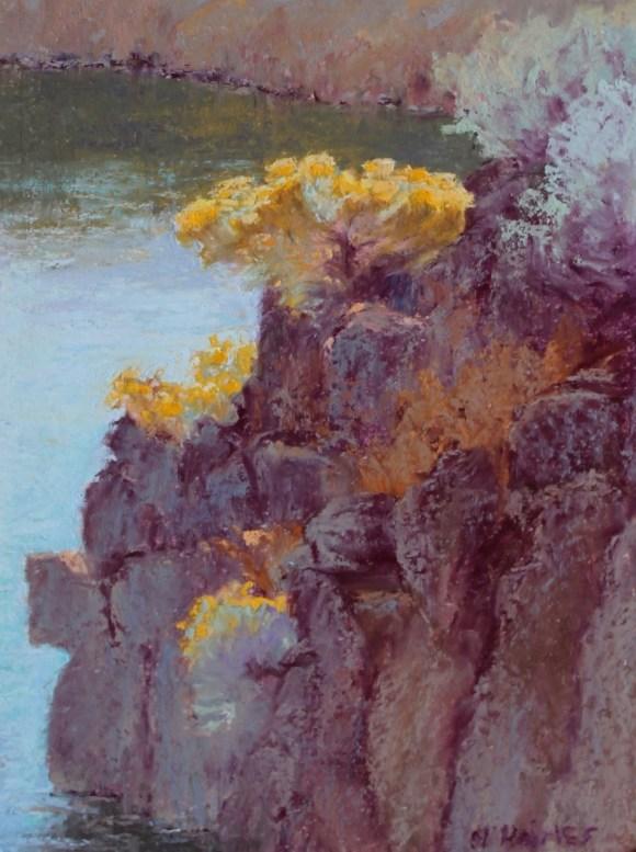 Overlooking Krumbo Reservoir by Norma Holmes