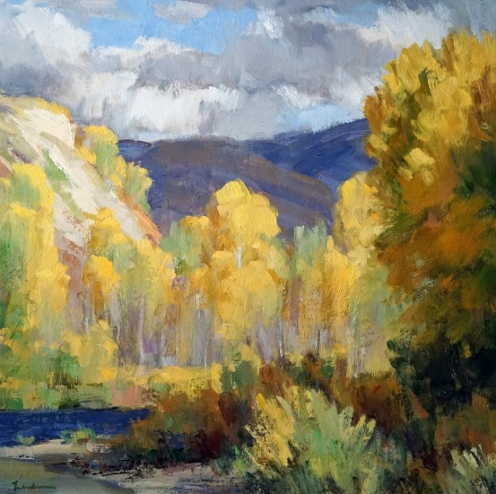 Cottonwoods in Autumn by Dale Landrum