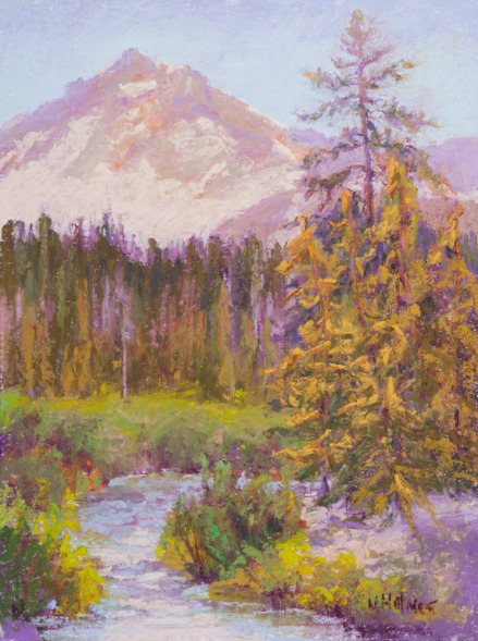 Scott Creek, July by Norma Holmes