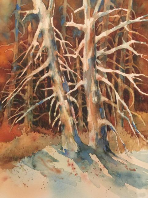 Snags, Crater Lake by Barbara Enochian
