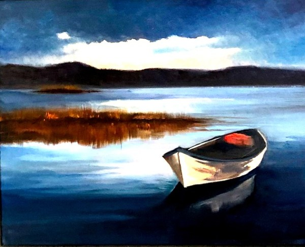 Twilight on the Lake by Janice Druian