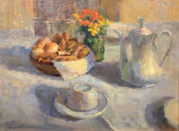 Breakfast Table by Karen Leoni