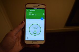 Unlocking your door with a Hilton digital key