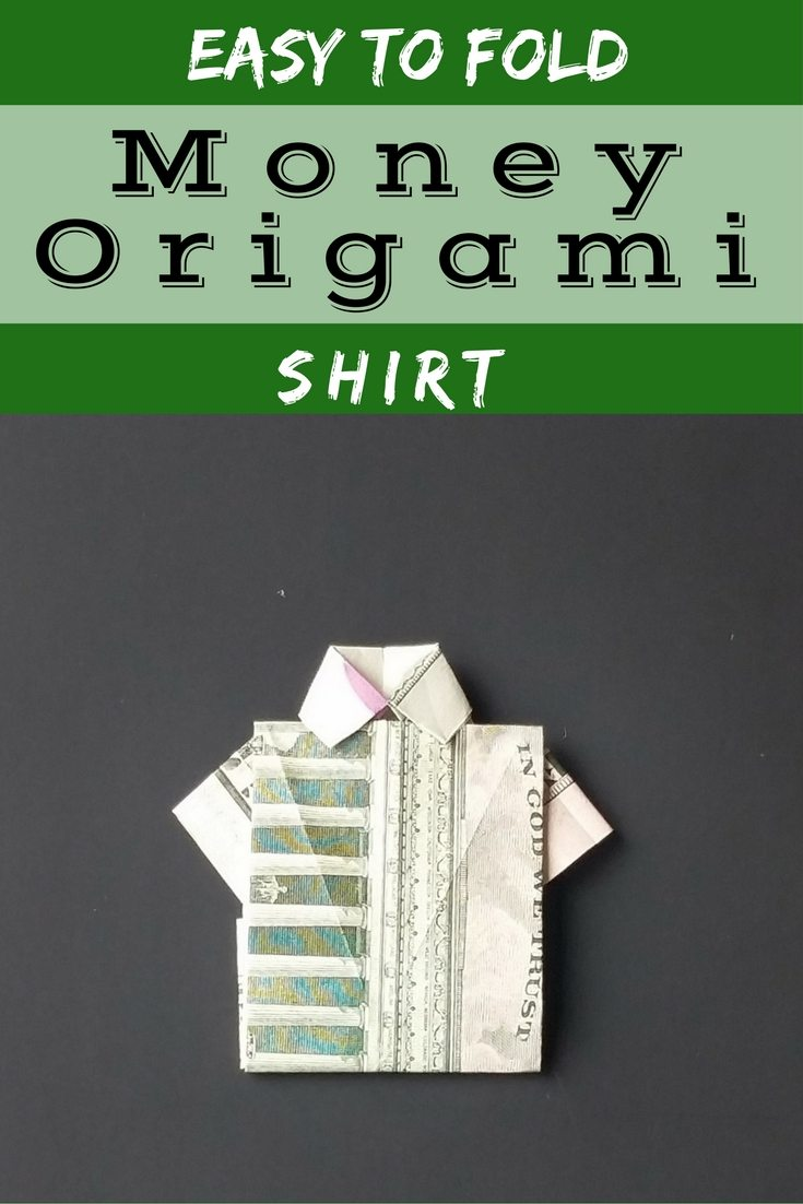 How to video and tips to fodl this easy money origami shirt. Kinda 80s rad looking right? | FaVe Mom