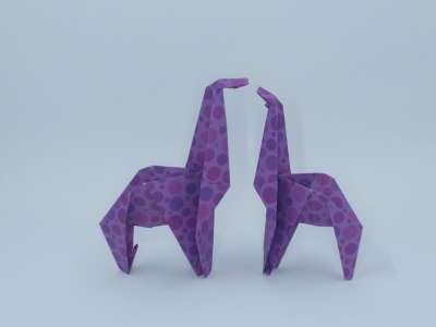 make an origami giraffe   Favemom.com