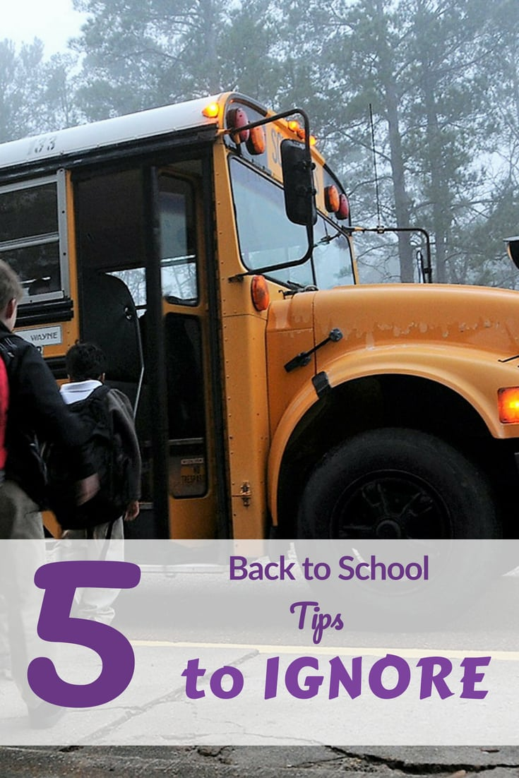 Back to school is hard enough, skip these 5 tips that people make sound necessary. You and your kdis will have an easier transition #backtoschool #favemom #origamifoodie #parenting #parentingtips